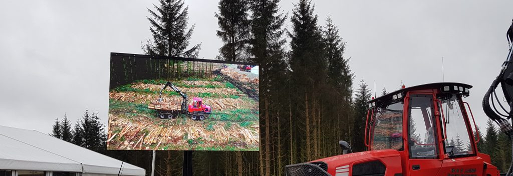 Aerial Perspective Drones live streaming to the big screen at Forestry Expo 2019